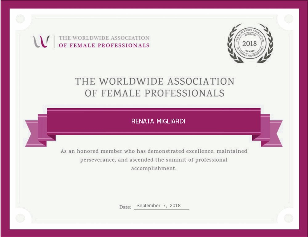 Worldwide Association of Female Professionals Award